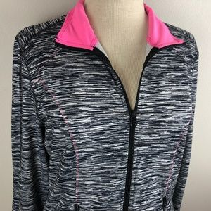 Maurices Long Sleeve Athletic Jacket Size L Black